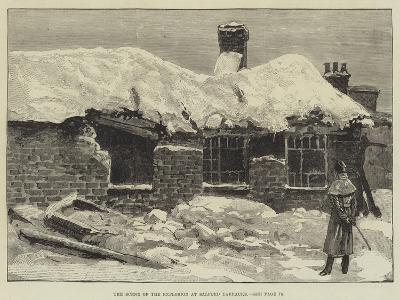 The Scene of the Explosion at Salford Barracks--Giclee Print