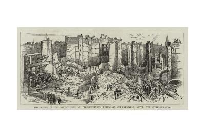 The Scene of the Great Fire at Charterhouse Buildings, Clerkenwell, after the Conflagration--Giclee Print