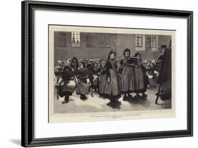 The School Board Elections, a Board School--Framed Giclee Print