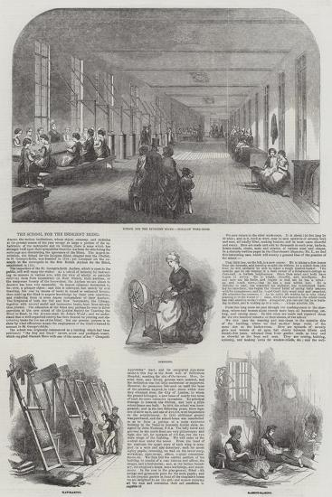 The School for the Indigent Blind--Giclee Print