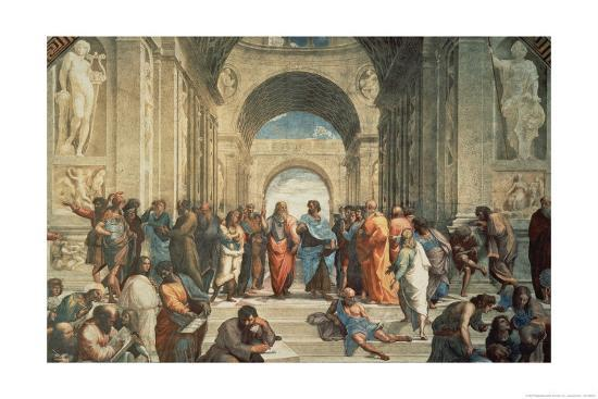 The School of Athens, c.1511 (detail)-Raphael-Art Print