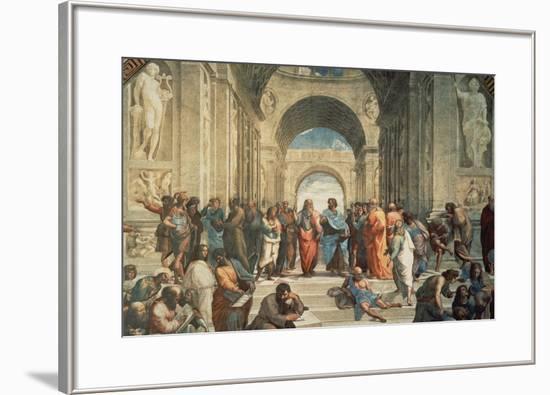 The School of Athens, c.1511 (detail)-Raphael-Framed Art Print