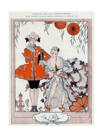 The School of Coquetry!-Georges Barbier-Giclee Print