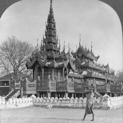 The School of King Thibaw in the Fort, Mandalay, Burma, 1908--Photographic Print