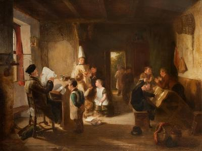 The School Room-Thomas Webster-Giclee Print