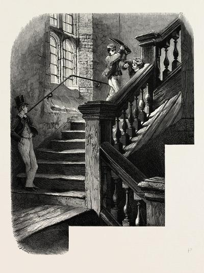 The School Staircase, Eton, UK, 19th Century--Giclee Print