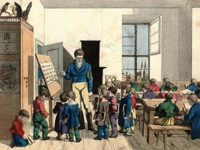 The School-Johann Michael Voltz-Giclee Print