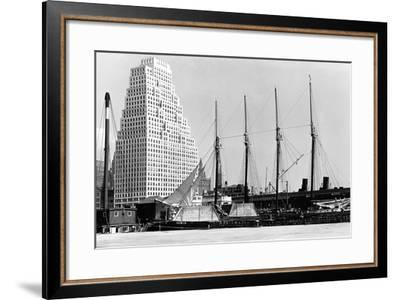 The Schooner Theoline at Pier 11-P.L. Sperr-Framed Photographic Print