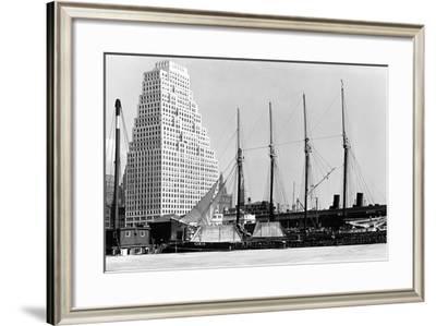 The Schooner Theoline at Pier 11-P.L. Sperr-Framed Photographic Print