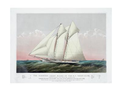 The Schooner Yacht Magic of the New York Yacht Club-Currier & Ives-Giclee Print