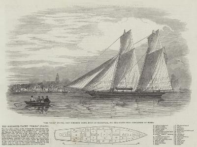 The Schooner Yacht Volna (Wave)--Giclee Print