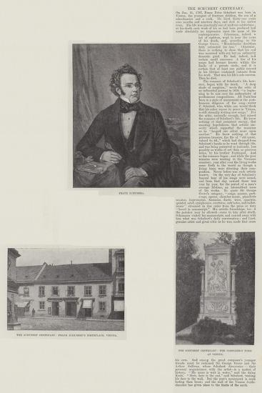 The Schubert Centenary--Giclee Print