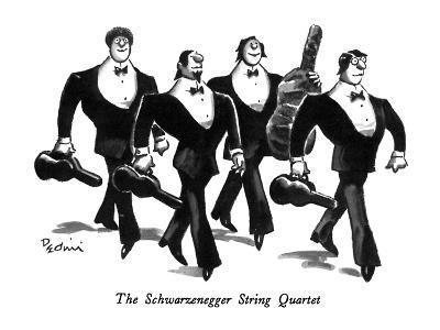 The Schwarzenegger String Quartet - New Yorker Cartoon-Eldon Dedini-Premium Giclee Print