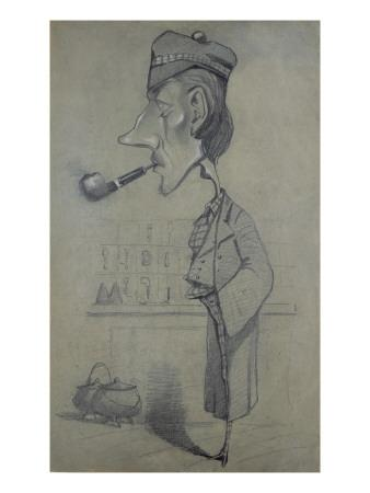 The Scotsman with a Pipe, 1857-Claude Monet-Giclee Print
