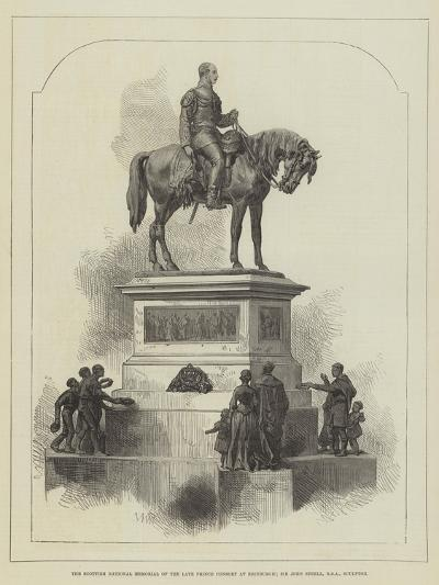 The Scottish National Memorial of the Late Prince Consort at Edinburgh; Sir John Steell--Giclee Print