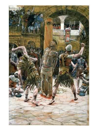 The Scourging, Illustration for 'The Life of Christ', C.1884-96-James Tissot-Giclee Print
