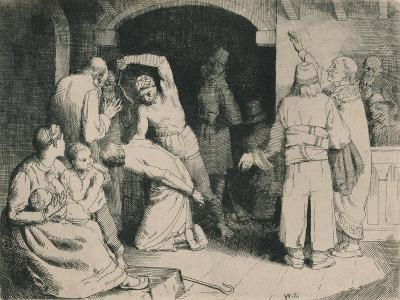 The Scourging of Faithful, C1916-William Strang-Giclee Print