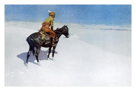 The Scout: Friends or Enemies?-Frederic Sackrider Remington-Art Print
