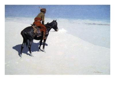 The Scout, Friends or Foes-Frederic Sackrider Remington-Art Print