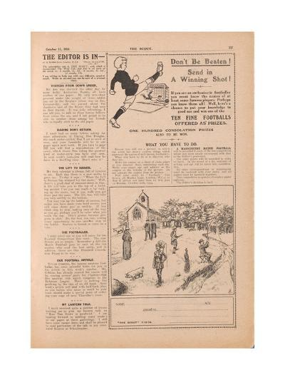 The Scout.', Vol.XX, No.861, 1924--Giclee Print