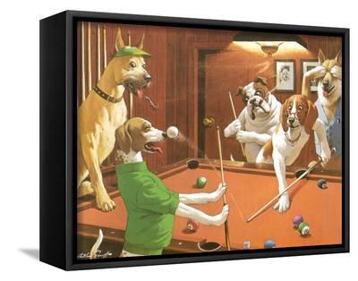 The Scratching Beagle-Arthur Sarnoff-Framed Canvas Print