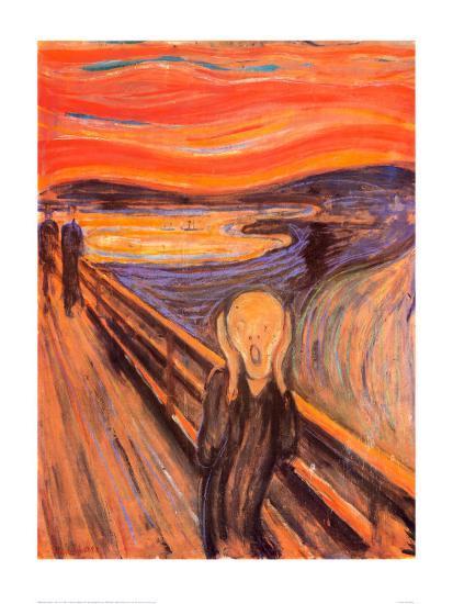 The Scream, c.1893-Edvard Munch-Art Print