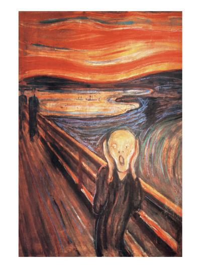 The Scream-Edvard Munch-Premium Giclee Print