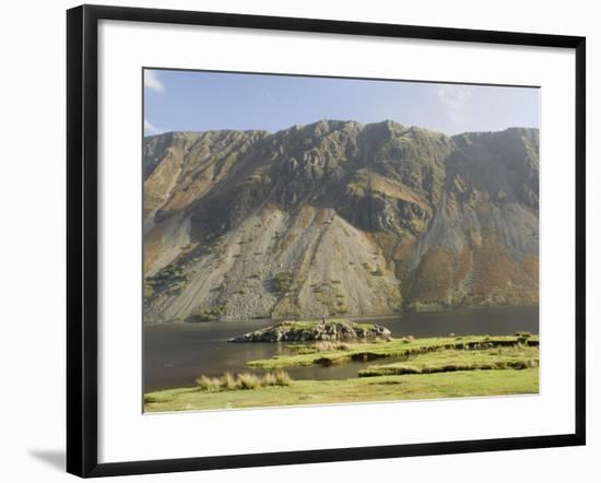 The Screes, Lake Wastwater, Wasdale, Lake District National Park, Cumbria, England-James Emmerson-Framed Photographic Print