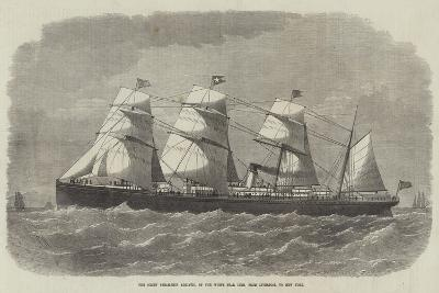 The Screw Steam-Ship Adriatic, of the White Star Line, from Liverpool to New York-Edwin Weedon-Giclee Print