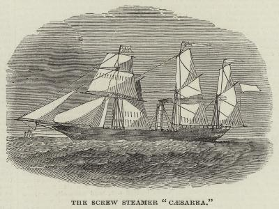 The Screw Steamer Caesarea--Giclee Print