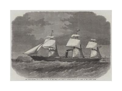 The Screw-Steamer City of New York-Edwin Weedon-Giclee Print