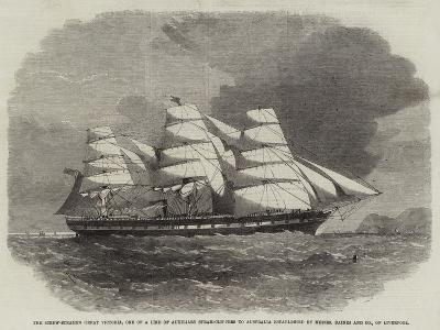 The Screw-Steamer Great Victoria-Edwin Weedon-Giclee Print