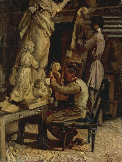 The Sculptor's Studio-Santo Bertelli-Giclee Print