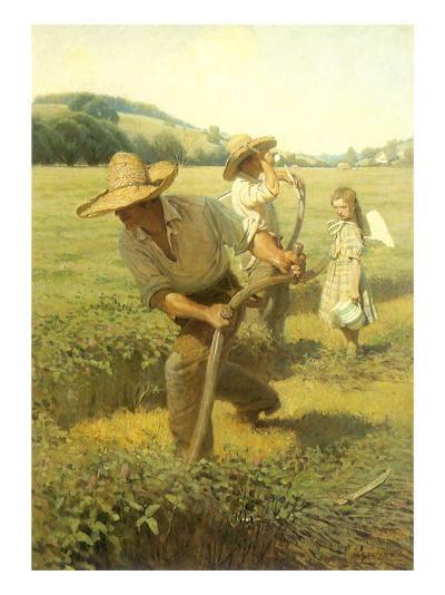 The Scythers, 1908-Newell Convers Wyeth-Giclee Print