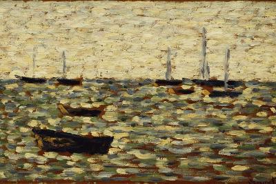 The Sea at Grandcamp; La Mer a Grandcamp, 1885-Georges Seurat-Giclee Print