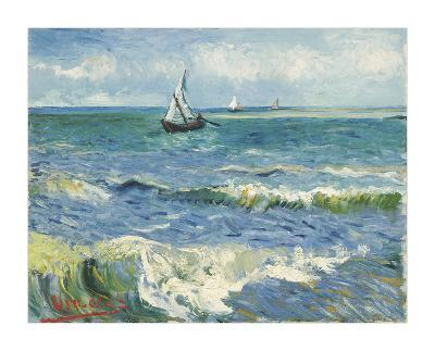 The Sea at Les Saintes-Maries-de-la-Mer, 1888-Vincent van Gogh-Giclee Print