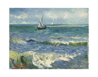 The Sea at Les Saintes-Maries-de-la-Mer, 1888-Vincent van Gogh-Art Print