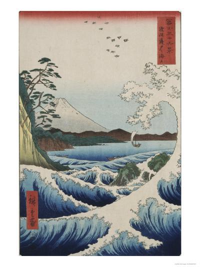 The Sea at Satta in Suruga Province-Ando Hiroshige-Giclee Print