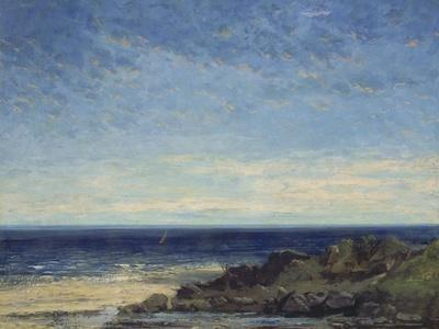 The Sea - Blue Sea, Blue Sky, 1867-Gustave Courbet-Giclee Print