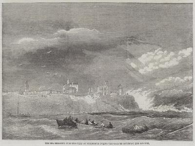 The Sea Breaking over the Cliff at Tynemouth During the Gale on Saturday, the 2nd Inst--Giclee Print