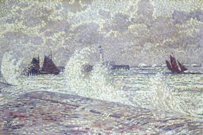 The Sea During Equinox, Boulogne-Sur-Mer, 1900-Theo van Rysselberghe-Giclee Print