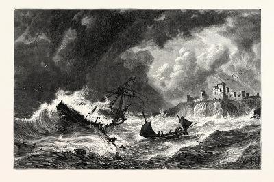 The Sea Off Tantallon, Scotland, UK--Giclee Print