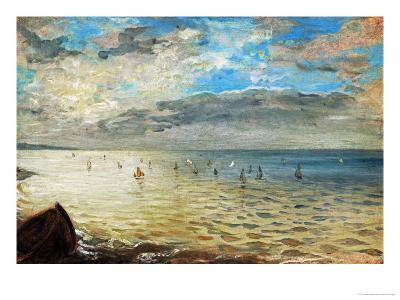 The Sea Seen from Dieppe, Ca-Eugene Delacroix-Giclee Print