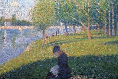 The Seamstress, Study for 'A Sunday Afternoon on the Island of La Grande Jatte', 1886-Georges Seurat-Giclee Print
