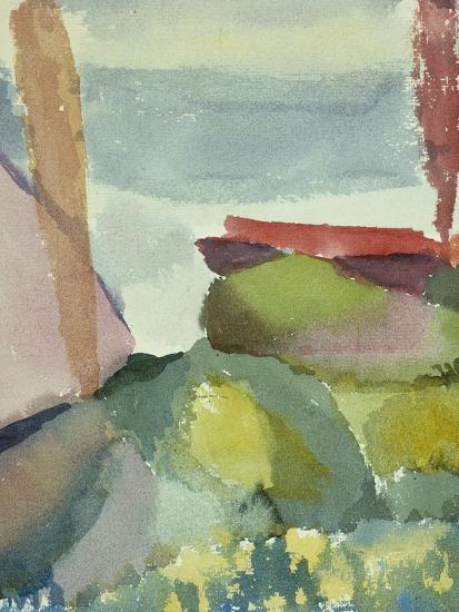 The Seaside in the Rain; See Ufer Bei Regen-Paul Klee-Premium Giclee Print