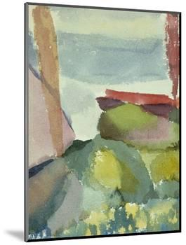 The Seaside in the Rain; See Ufer Bei Regen-Paul Klee-Mounted Premium Giclee Print