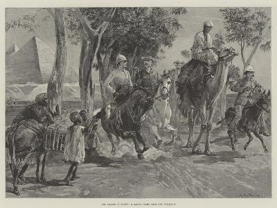 The Season in Egypt, a Canter Home from the Pyramids-William Heysham Overend-Giclee Print