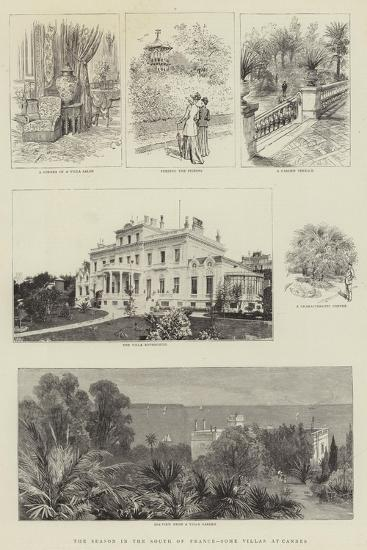 The Season in the South of France, Some Villas at Cannes--Giclee Print
