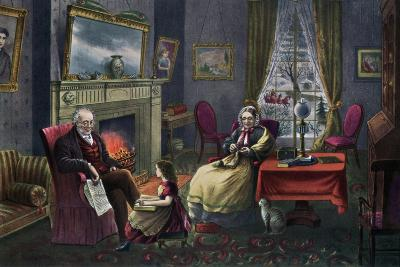 The Season of Rest, Old Age, 1868-Currier & Ives-Giclee Print