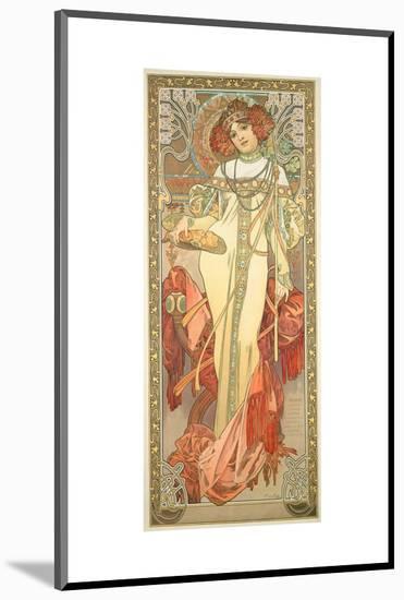 The Seasons: Autumn, 1900-Alphonse Mucha-Mounted Premium Giclee Print
